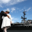 San Diego WWII Kiss Statue Ceremony — Stock Photo