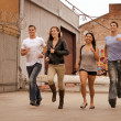 Group Running — Stock Photo