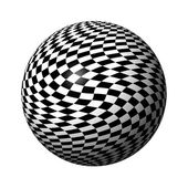 Chessboard Globe — Stock Photo