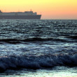 Sunset Cargo Ship — Stock Photo