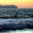 Sunset Cargo Ship — Stock Photo #41940563