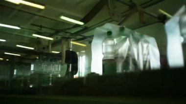 Production line for mineral water. packing — Stock Video