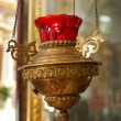 Stock Video: Lamp in Church of Holy Sepulchre