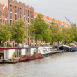 Entrepotdok canal in Amsterdam the Netherlands — Stock Photo