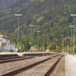 Rural train station — Stock Photo