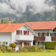 Bavarian vintage houses - Stock Photo