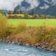 At the river bank near the town of Oberstdorf, Germany — Stock Photo