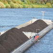 Bulk carrier transporting coal — Stock Photo