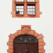 Door and window at the facade of 1907 building in Speyer, German — Stock Photo