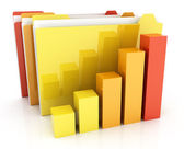 Folders and diagramme — Stock Photo