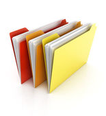 Folders and files on white — Stock Photo