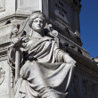 Rossio Statue - Stock Photo