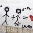 Graffito Love — Foto de Stock