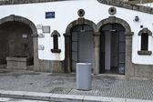 Public toilet and Flood Levels in Amarante — Stock Photo
