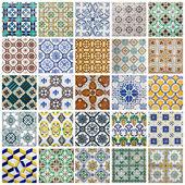 Collage de carreaux portugais — Photo