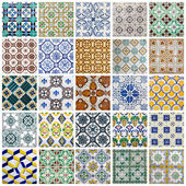 Portuguese Tiles Collage — Stock Photo