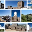 Historical Monsaraz Medieval Village Collage — Stock Photo