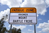 Fatigue Zone Sign — Stock Photo