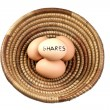 Stock Photo: Basket Eggs Shares