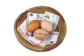 Basket Eggs and Retirement — Stock Photo