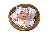 Basket Egg Savings Concept — Stock Photo