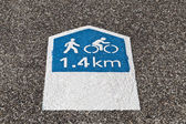 Footpath Sign — Stock Photo