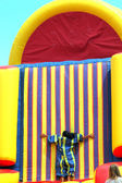 Inflatable slide. — Stock Photo
