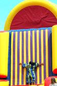Inflatable slide. — Stock Photo