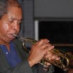 Jazz trumpet player. — Stock Photo