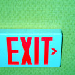 Exit sign. — Stock Photo