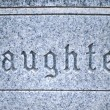 Stock Photo: Daughter tombstone.