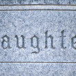 Daughter tombstone. - Stock Photo