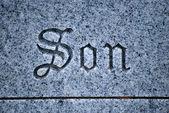 Son tombstone. — Stock Photo