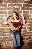 Grunge female teenager. — Stock Photo