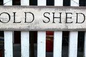 古い小屋サイン, — ストック写真
