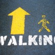 Stock Photo: Walking symbol.