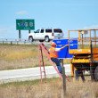 Stock Photo: Wyoming highway workers.