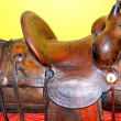 Stock Photo: Western saddle.