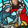 Stock Photo: Stained glass window.
