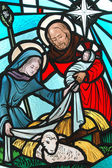 Stained glass window. — Stock Photo