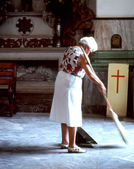 Church sweeper. — Stock Photo