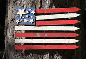 Wooden american flag. — Stockfoto