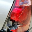 Stock Photo: Broken taillight.