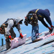 Stock Photo: Male roofers.