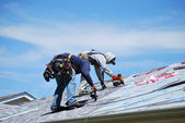 Male roofers. — Stock Photo