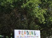 Czytanie plakat. — Zdjęcie stockowe