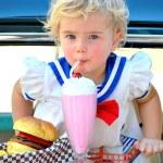 Ice cream girl. — Stock Photo