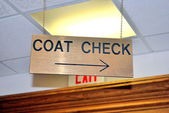 Coat check sign. — Stock Photo