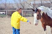 Female rancher. — Stock Photo