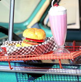 Fast food burger joint. — Stock Photo